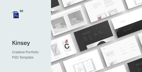 Kinsey – Creative Portfolio PSD Template