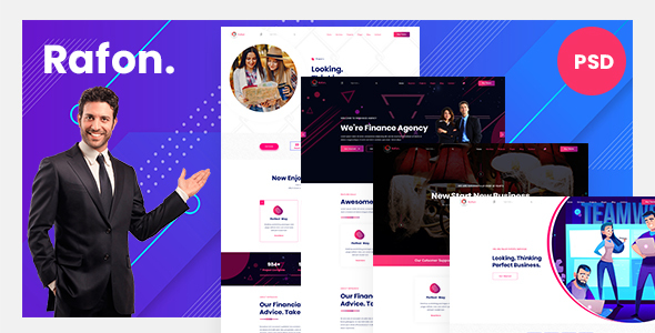 Rafon | Business Agency PSD Template