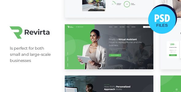 Revirta | Personal Virtual Assistant & Secretary PSD Template