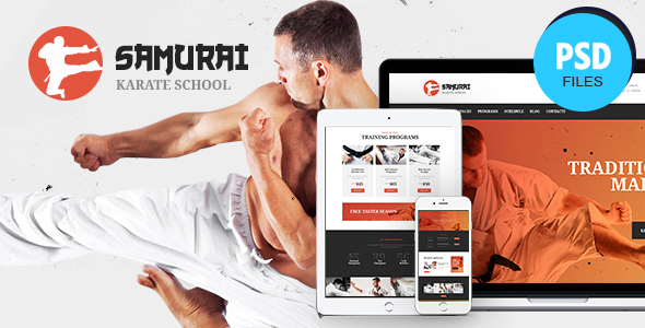 Samurai | Karate School and Fitness Center PSD Template