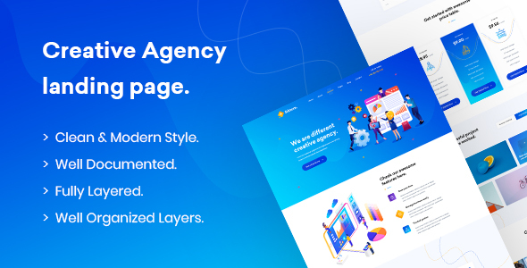 Siktom - Agency Landing Page PSD Template