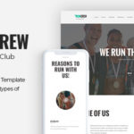RunCrew | Running Club, Marathon & Sports PSD Template