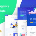SaSS, App Landing Page & Startups PSD Template - SassCo
