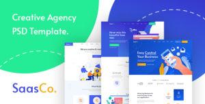 SassCo - SaSS, App Landing Page & Startups PSD Template