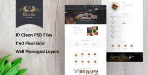 Barelin Restaurant PSD Templates