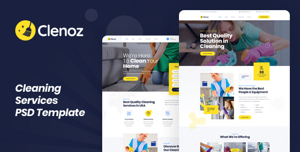 Clenoz - Cleaning Services PSD Template