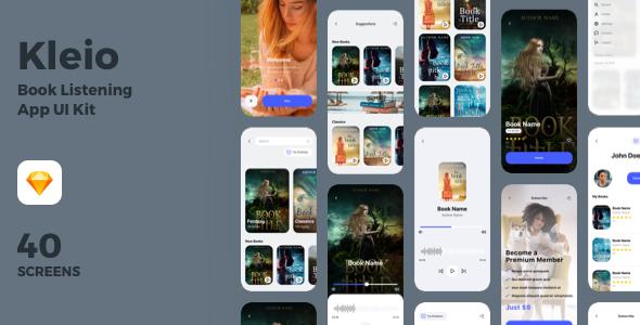 Kleio - Book Listening App UI Kit
