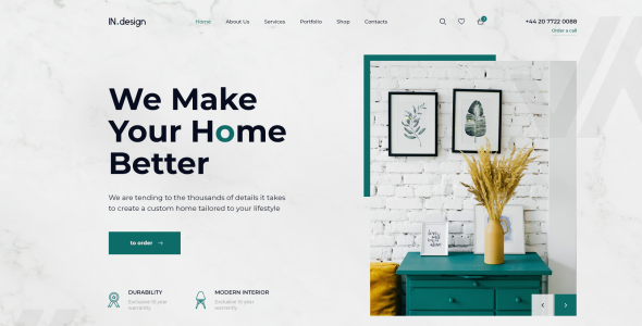 Mint - Interior Design PSD Template