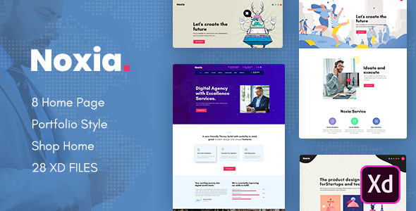 Noxia - Creative Multipurpose Business XD Template