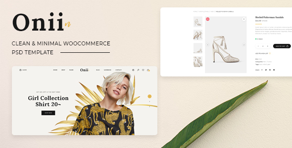 Onii - Clean, Minimal Shop PSD Template