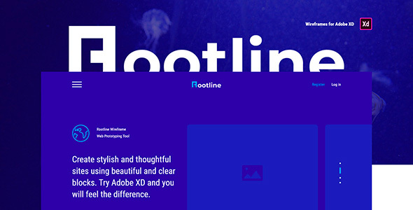 Rootline – Wireframe Web UI Kit