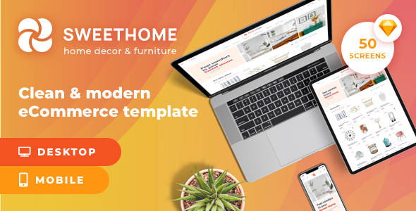 SweetHome – eCommerce Sketch Template