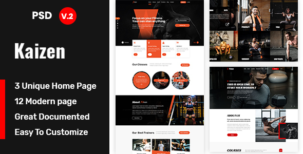 Kaizen – Gym and Fitness Template