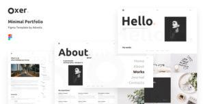 Oxer - Minimal Portfolio Figma Template