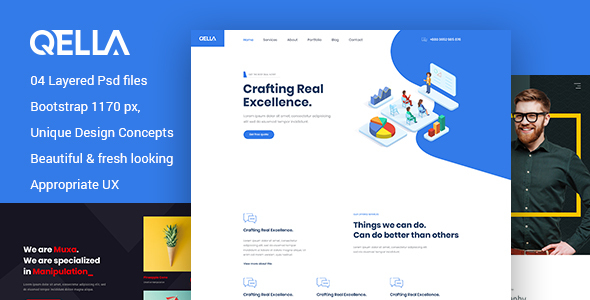 Qella - Multipurpose PSD Template