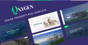 Qxygen - Single Property PSD Template