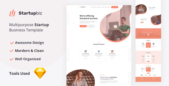 Startupbiz - Multipurpose Startup Business Template