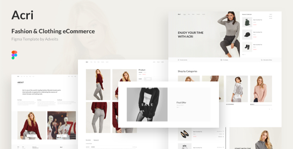 Acri - Fashion & Clothing eCommerce Figma Template