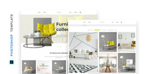 Enkel – Furniture Company Template for Photoshop