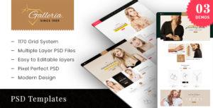 Galleria - Fashion eCommerce PSD Template