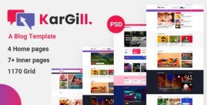 Kargill - Blog, Magazine PSD Template