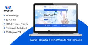 Kolinic - Hospital & Clinic Website PSD Template