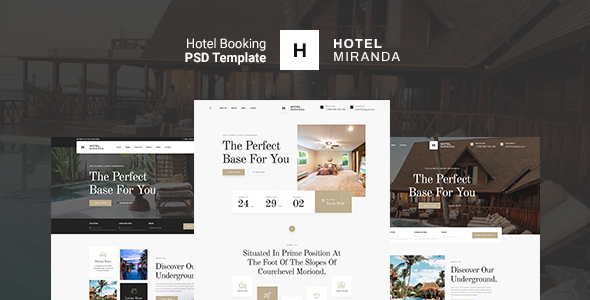 Miranda - Hotel Booking PSD Template