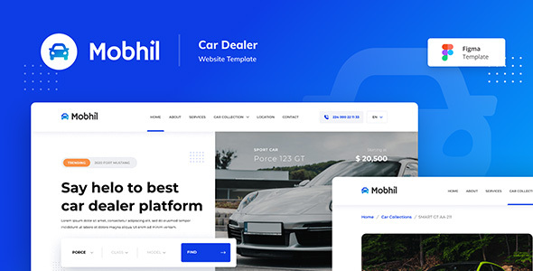 Mobhil Car Dealer Website Figma Template