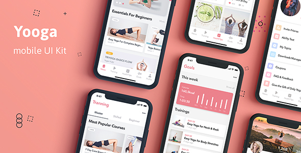 Yooga - Health and Fitness UI Kit for Sketch