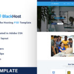 The Hosting PSD Template - BlackHost