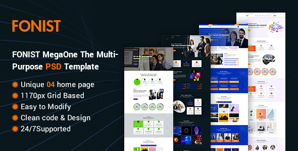 Fonist - MegaOne The Multipurpose PSD Template