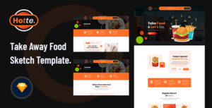 Hotte - Take Away Food Sketch Template