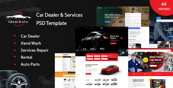 IdealAuto - Car Dealer & Services PSD Template