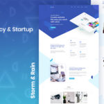 Creative Agency & Startup Landing Page - Jeva