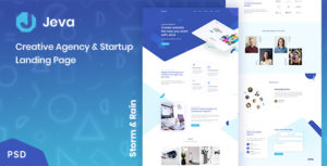Jeva - Creative Agency & Startup Landing Page
