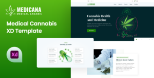 Medicana - Medical Cannabis XD Template