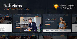 Solicians - Attorney Law Firm Sketch Template