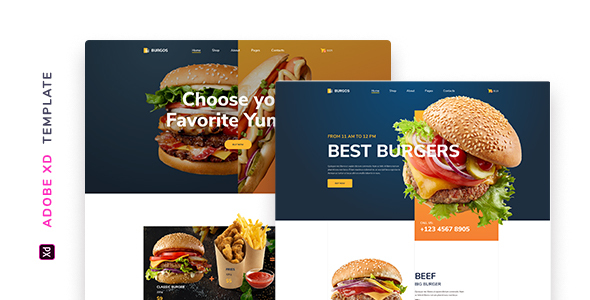 Burgos – Street Food Template for XD