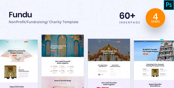 Fundo - Charity PSD Template