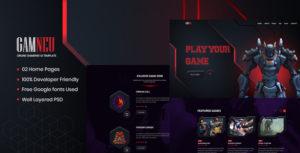 Gamneu - Neumorphic Online game  UI Template
