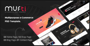 Mufti - Multipurpose e-Commerce PSD Template