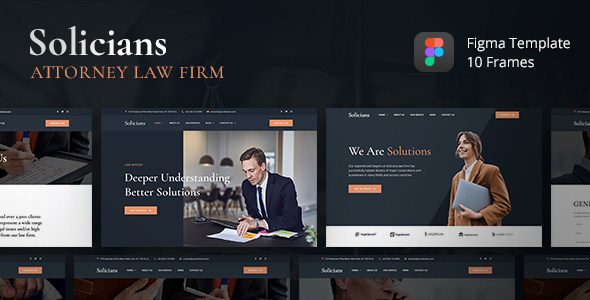 Solicians - Attorney Law Firm Figma Template