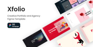 Xfolio - Creative Portfolio and Agency Figma Template