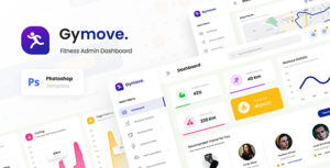 Gymove - Fitness Admin Dashboard Website Design UI Template PSD