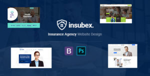 Insubex | Insurance Multipurpose PSD Template