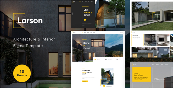 Larson - Architecture & Interior Figma Template
