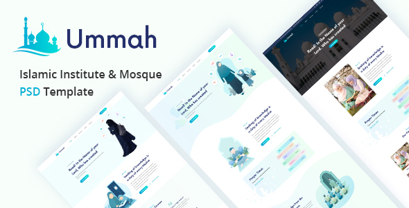 Ummah  – Islamic Institute & Mosque PSD Template