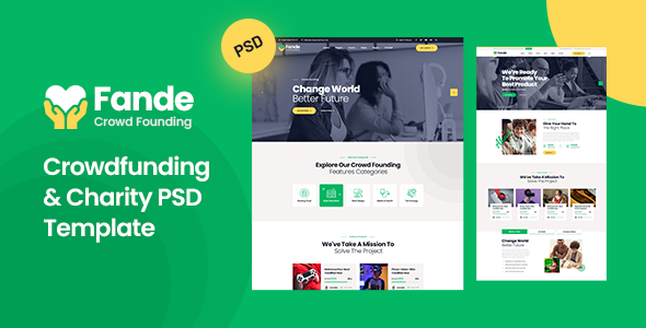 Fande - Crowdfunding & Charity PSD Template