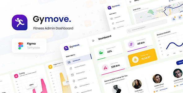 Gymove - Fitness Admin Dashboard Template