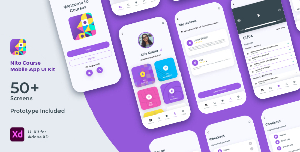 Nito Course Mobile App UI Kit